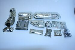 Lot Of 14 Vintage Metal Candy And Chocolate Molds - Corn Gun Knife Pipe Dog+++