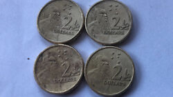 4 Rare Genuine 1988 2 Australian Coins With Horst Hahne Engraved Collectable
