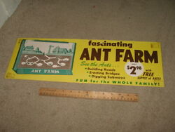 Vintage Store Display Ant Farm 1960s Sign Poster Playset Comic Book Toy 2
