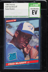 1986 Donruss Fred Mcgriff Rated Rookie Rc 28 Csg Evidence That Psa Grades Trims