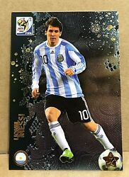 Lionel Messi 2010 Panini World Cup Metalized Card. Card Number 44