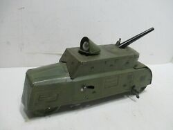German World War One Armored Car Wind-up With Moving Search Light And Gun Works