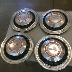 Old Used Gmc Motorohome Dually Truck Hubcaps Set Of 4