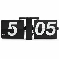 Rejea Flip Wall Large Clock Mechanical Digital Bold Number Wall Mounted or Ta...