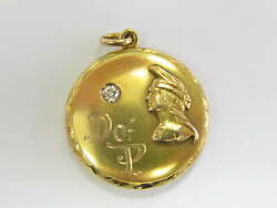 Degree Of Pocahontas Of The Improved Order Of Red Men Diamond Pendant 14kt 1921