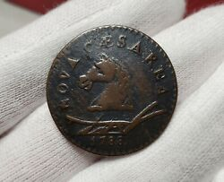 1788 New Jersey Colonial Copper Coin - Horse Head Left - Maris 50-f W-5475