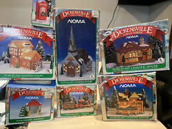 Dickensville Collectables Set Of 7 Christmas Village