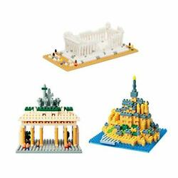 [reprint] [limited Product Included Nano-block Scene Collection Set World A001