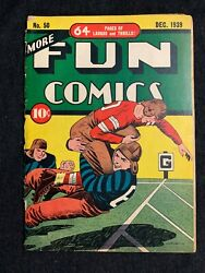 More Fun Comics 50 Golden Age Cover December 1939 10 On Cgc Census Football
