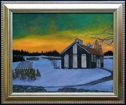 Ron Kucinski No One Left To Carry On Abandoned Crops Farm Acrylic Painting16x20