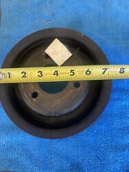 C9te-6312-a 3 Groove Crank Pulley Ford 390 360 428 With Power Steering Groove