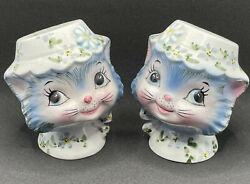 Vintage Lefton Miss Priss Kitty Cat Salt And Pepper Shakers