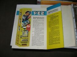 Pez Ad Sheet 1950s Pinup Girl Candy Vending Machine, Salesman 2 Sided