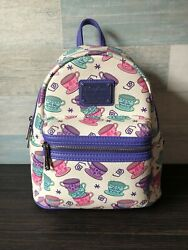 Disney Loungefly Alice In Wonderland Mad Tea Party Cups Mini Backpack