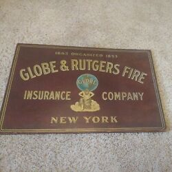 Globe And Rutgers Antique Fire Insurance Sign