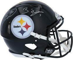 Ben Roethlisberger And Hines Ward Pittsburgh Steelers Signed Authentic Helmet