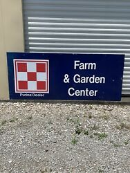 Rare Large Vintage Purina Sign Feed Seed Farm 8andrsquo X 4andrsquo