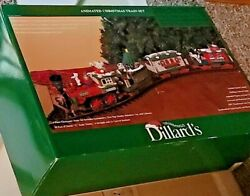 Dillard's Trimmings Animated Christmas Train Set G Scale By New Bright Complete