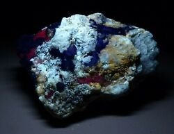 1224 Grams A Beautiful Specimen Of Lazurite With Other Fluorescent Minerals @af