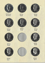 1970-1979 S Proof Kennedy W40 Silver And 1976 Type 2 Half Dollars - 10 Piece Set