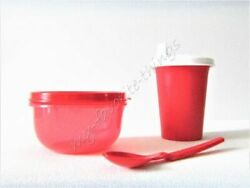 Tupperware Childrenand039s Sipper Cup Snack Cup And Hang-on Spoon Red
