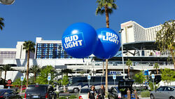 7 Foot Vinyl Helium Advertising Inflatable With 2 Color Logo On 2 Sides