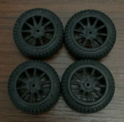 Losi Micro Rally Used Black Wheels And Tires