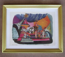 Rare Signed Marc And Alice Davis Disney Lithograph It's A Small World, Disneyland