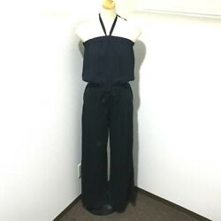 Cc Bare Top Wide Pants All-in-one Black X Navy Linen P40727w04857