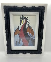 Maleficent Dragon Upcycled Childrens Book Print Framed