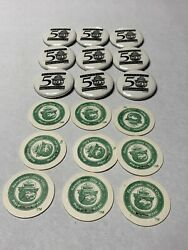 Smokey The Bear 50 Years Button Pin Pogs Lot Wildfires