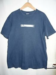 Supreme 10ss Motion Logo Tee Size-l Navy T-shirt Brand Used Clothes Daimei Store
