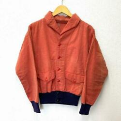 1930and039s Vintage A-1 Moleskin Jacket Size 36 Terracotta Rare Pre-owned