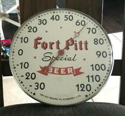 Vintage Fort Pitt Beer Bubble Glass Thermometer Fort Pitt Brg Co Pittsburgh Pa