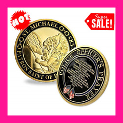 Michael Patron Saint Of Police Officers Prayer Us Military Challenge Coin
