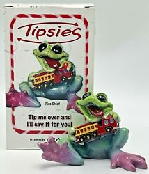Kittyandrsquos Critters Tipsies Fire Chief Frog Figurine 8353 Fire Truck