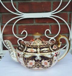 Rare Lg Teapot Royal Crown Derby Traditional Imari Made For And Co. C1930s