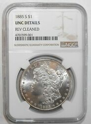 1885-s Morgan Silver Dollar, Ngc Unc Details, Rev. Cleaned