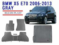 Floor Mats Set For Bmw X5 E70 2006-2013 Rubber Mat 1st And 2nd Row + Cargo Liner