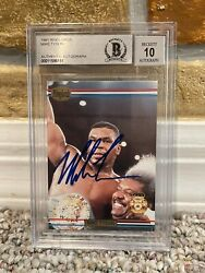 1991 Mike Tyson Ringlords Sample Promo Auto Signed Boxing Card Beckett Bgs 10
