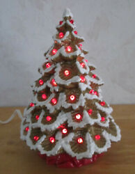 Vintage Style New Small Nowells Gingerbread Themed Ceramic Christmas Tree