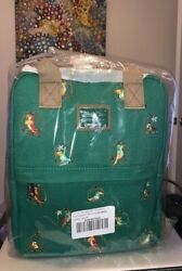 Loungefly Disney Parks Enchanted Tiki Room Canvas Backpack Nwt