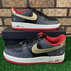 Nike Air Force 1 And03907 Lx Dj5184-001 And039spadesand039 Black/gold/red Sneakers