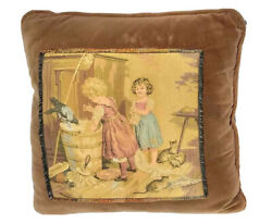 Pillow Vintage velvet throw accent couch pillows children chores tapestry decor