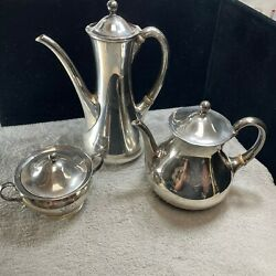 And Co 925 Sterling Silver Measuring Tea Set Of 3 Engraved 1008 Gr Weight