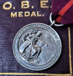 Rare Ww1 Era Medal Of The Order Of The British Empire Military In Case Obe