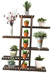 """6 Tier Wood Plant Stand For Indoor Plants Outdoor Multi Layer Flower 47.6""""h"""