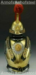 X-mas Medieval Knight Cuirass Of The French Cuirassiers 19th Century With Helmet