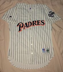 Authentic Mlb Jersey San Diego Padres Vintage Russell Athletics Home Blank Vtg