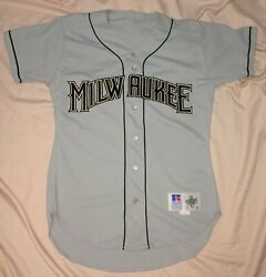 Authentic Mlb Jersey Milwaukee Brewers Vintage Russell Athletics Road Blank Vtg
